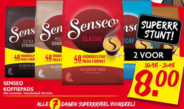 Douwe Egberts Senseo   koffiepad folder aanbieding bij  Dekamarkt - details