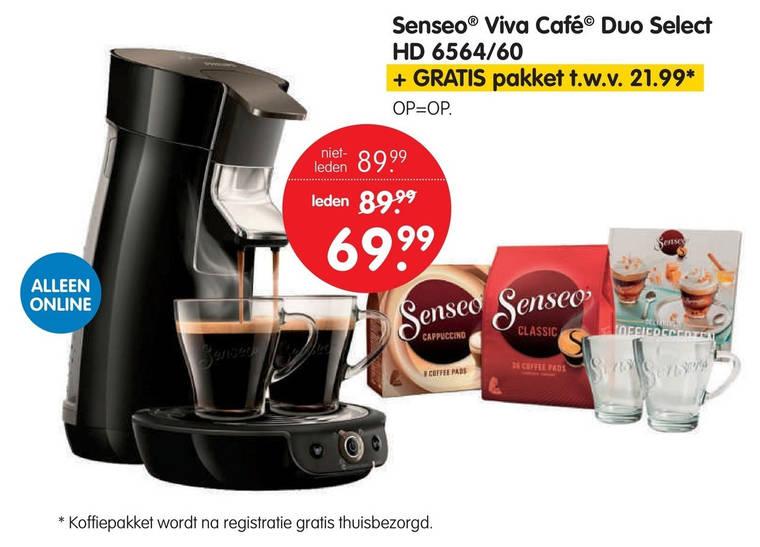 koffiepadmachine folder aanbieding bij ANWB details