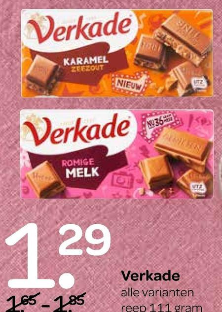 Verkade   chocolade folder aanbieding bij  Spar - details