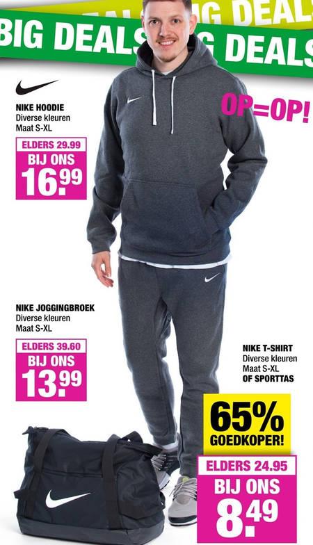 Nike hoodie folder aanbieding