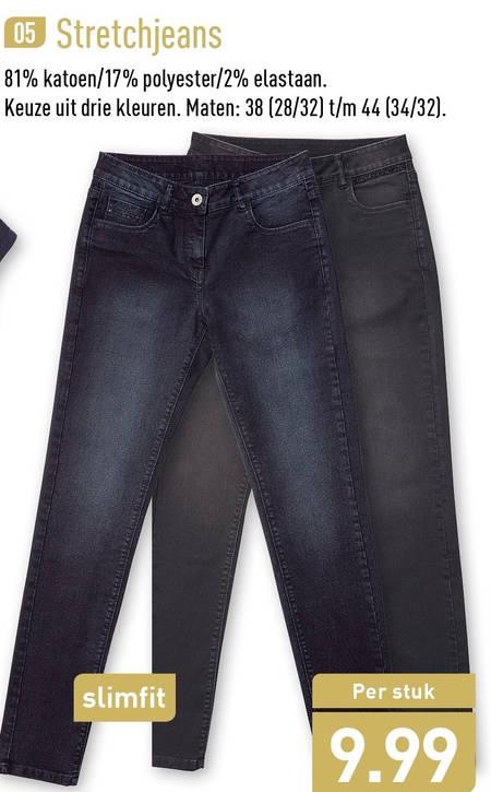 dames jeans folder aanbieding bij Aldi details