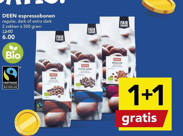 Deen Huismerk   koffiebonen folder aanbieding bij  Deen - details