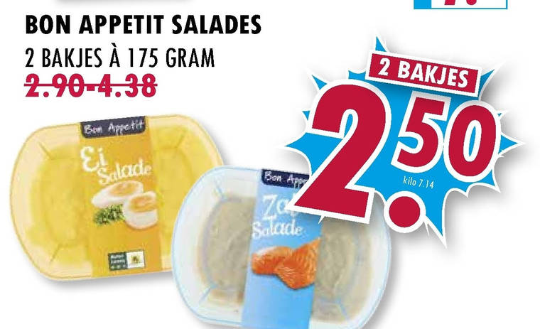 Bon Appetit   salade folder aanbieding bij  BoonsMarkt - details