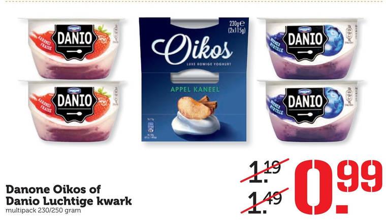 Danone Oikos   vruchtenyoghurt, kwark folder aanbieding bij  Coop - details