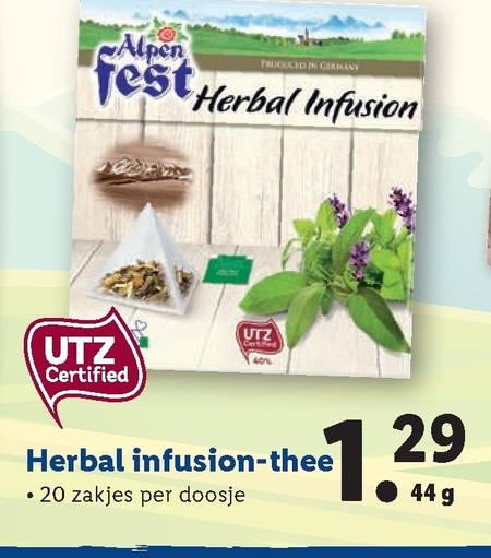 Alpenfest   thee folder aanbieding bij  Lidl - details