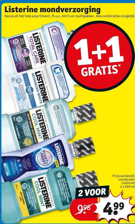 Listerine   mondwater folder aanbieding bij  Kruidvat - details