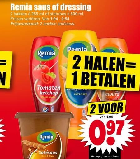 Remia   curryketchup, dressing folder aanbieding bij  Dirk - details