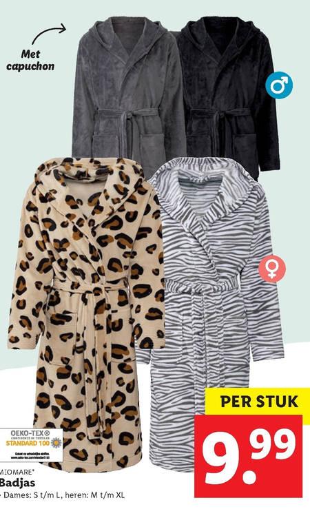 Miomare badjas folder aanbieding bij Lidl details