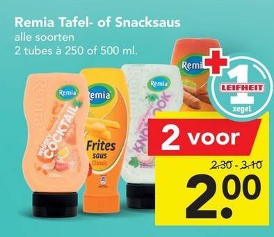 Remia   fritessaus, snacksaus folder aanbieding bij  Deen - details