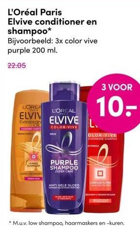 Elvive   shampoo, conditioner folder aanbieding bij  DA - details