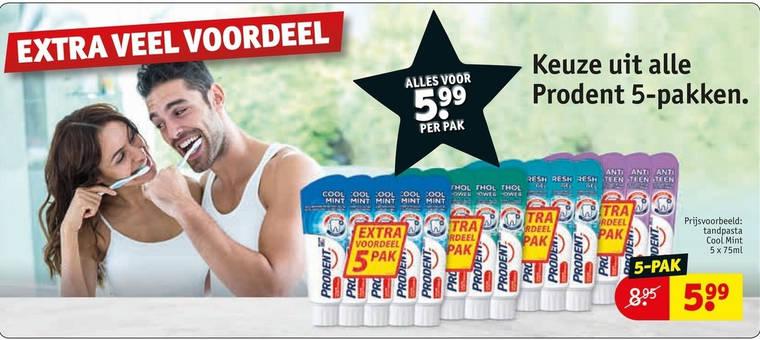 Prodent   tandpasta folder aanbieding bij  Kruidvat - details