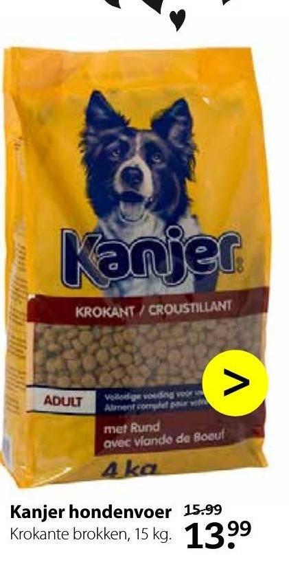 Kanjer   hondenvoer folder aanbieding bij  PetsPlace - details