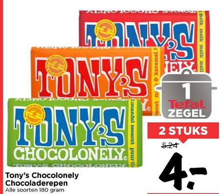 Tony Chocolony   chocolade folder aanbieding bij  Vomar - details