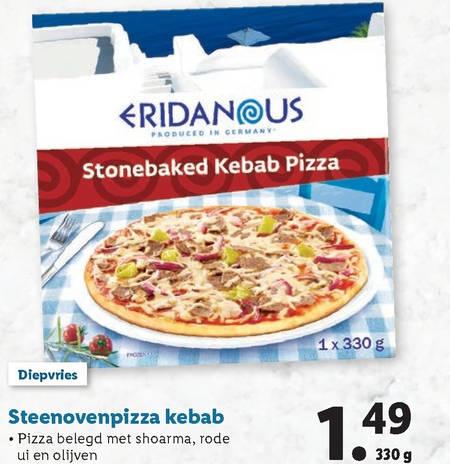 Eridanous   diepvriespizza folder aanbieding bij  Lidl - details