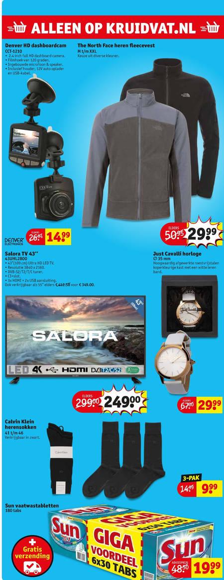 Sun   4k ultrahd televisies, horloge folder aanbieding bij  Kruidvat - details