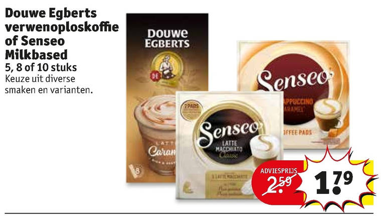 Douwe Egberts   oploskoffie, koffiepad folder aanbieding bij  Kruidvat - details