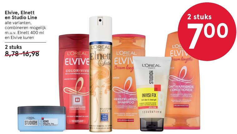 Studio Line   cremespoeling, hairspray folder aanbieding bij  Etos - details