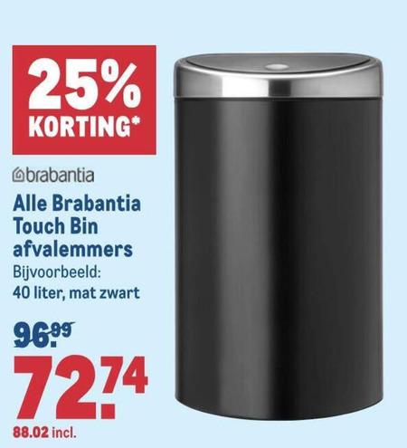 Brabantia   afvalemmer folder aanbieding bij  Makro - details