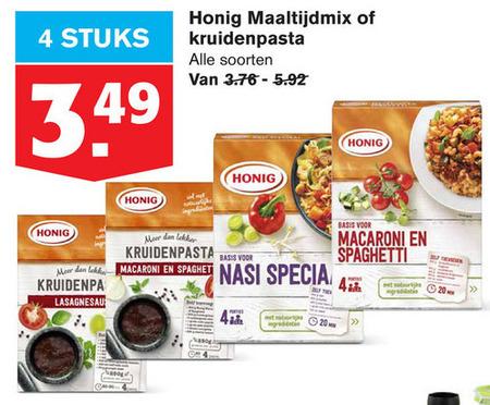Honig   maaltijdmix folder aanbieding bij  Hoogvliet - details