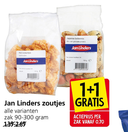 Jan Linders Huismerk   rijstzoutjes folder aanbieding bij  JanLinders - details