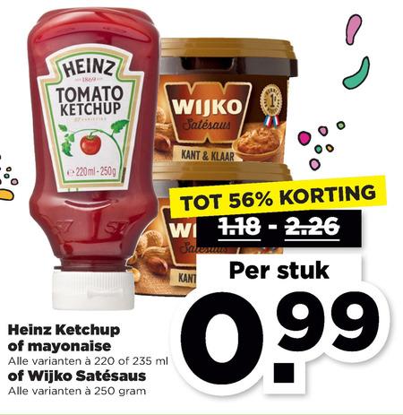 Wijko   mayonaise, satesaus folder aanbieding bij  Plus - details