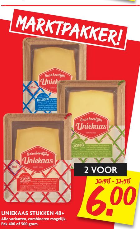 Uniekaas   kaas folder aanbieding bij  Dekamarkt - details