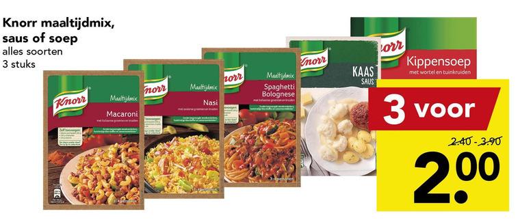 Knorr   maaltijdsaus, maaltijdmix folder aanbieding bij  Deen - details
