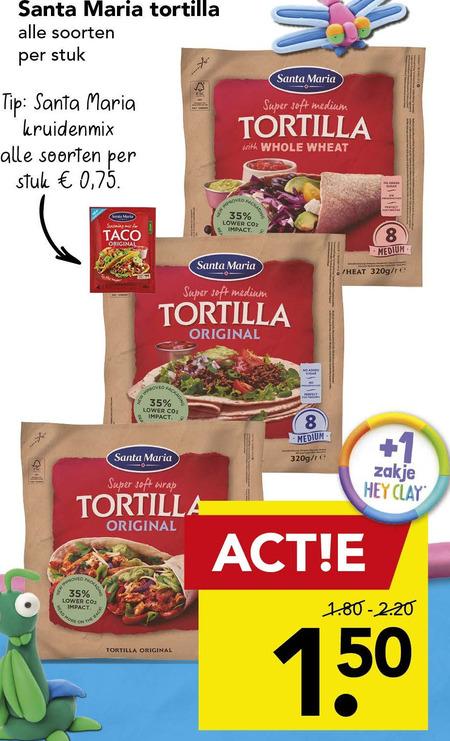 Santa Maria   tortilla folder aanbieding bij  Deen - details
