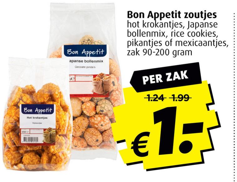 Bon Appetit   rijstzoutjes folder aanbieding bij  Boni - details