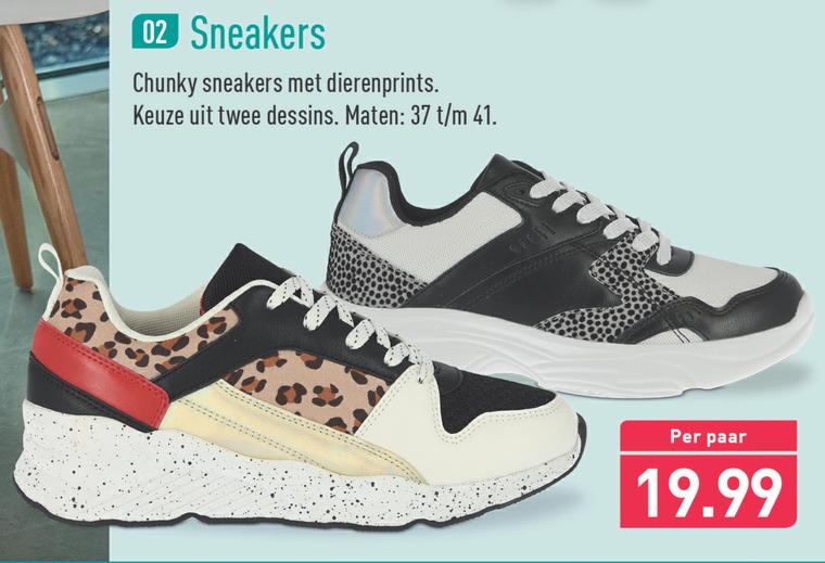 dames sneakers folder aanbieding bij Aldi - details
