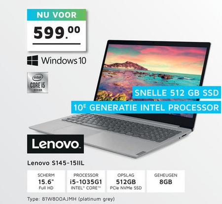 Lenovo   notebook folder aanbieding bij  Informatique - details