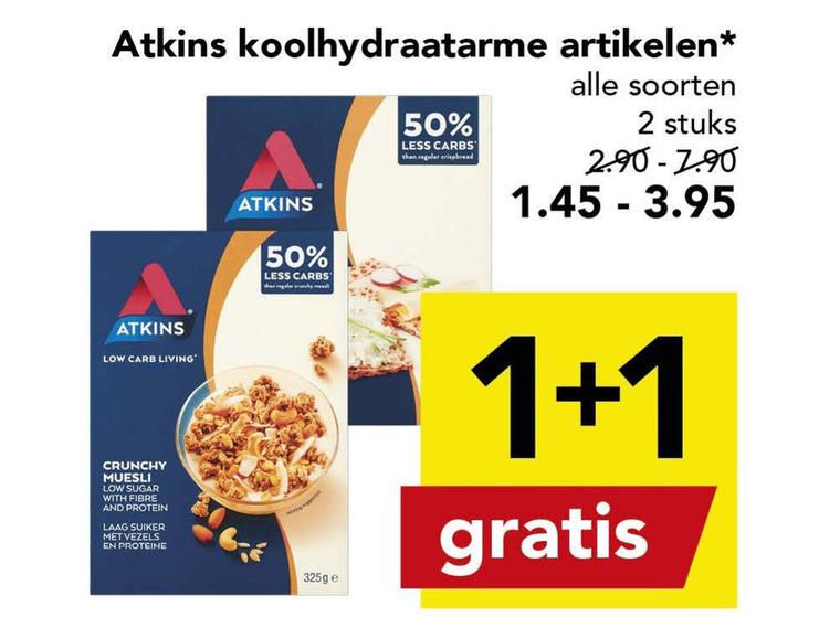 Atkins   afslankmaaltijd folder aanbieding bij  Deen - details