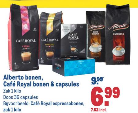 Cafe Royal   koffiecups, koffiebonen folder aanbieding bij  Makro - details