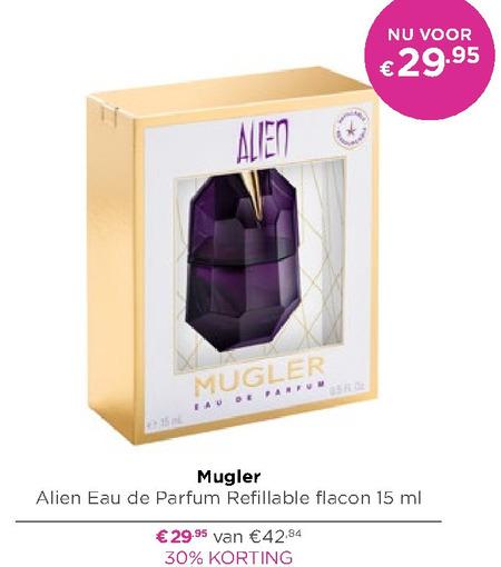 Thierry Mugler eau de parfum folder aanbieding bij Ici Paris