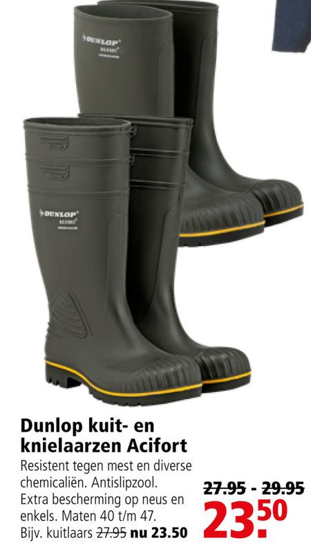 Dunlop regenlaarzen folder aanbieding bij Welkoop details