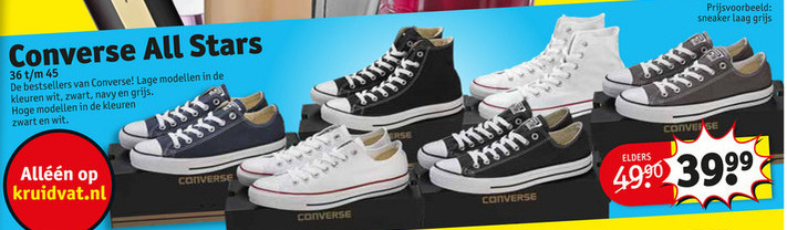 Converse dames sneakers, heren sneakers folder aanbieding