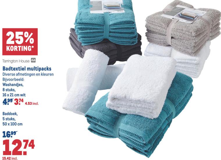 Tarrington House   handdoek, badtextiel folder aanbieding bij  Makro - details