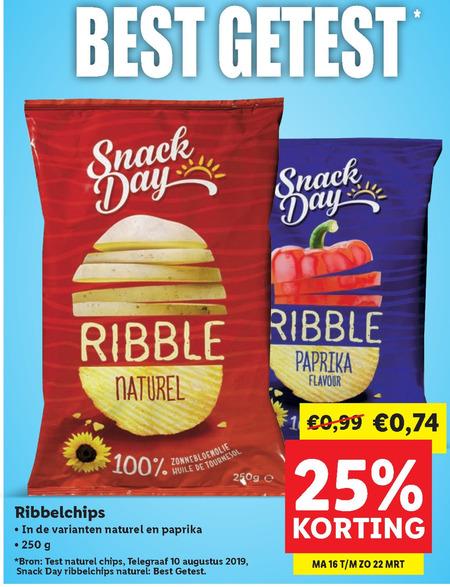 SnackDay chips folder aanbieding bij Lidl details