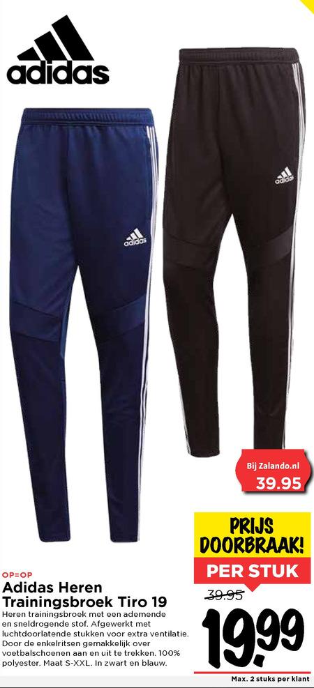 Adidas heren joggingbroek folder aanbieding bij Vomar - details