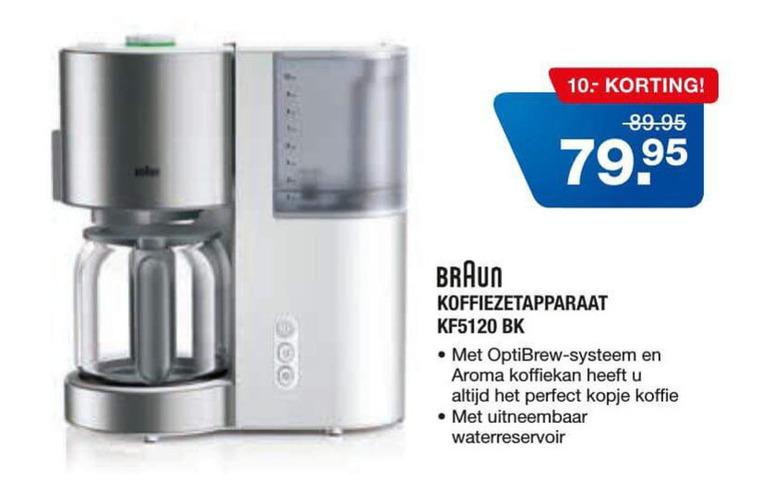 Braun   koffiezetapparaat folder aanbieding bij  Electroworld - details