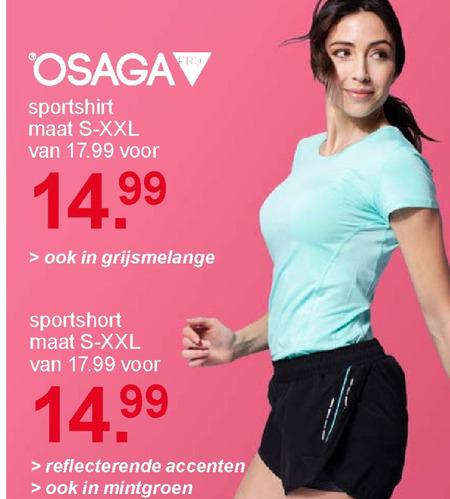 Osaga   dames sport short, dames sport shirt folder aanbieding bij  Scapino - details