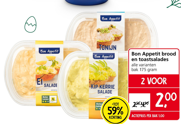 Bon Appetit   salade folder aanbieding bij  JanLinders - details