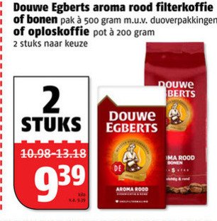 Douwe Egberts   koffiebonen, koffie folder aanbieding bij  Poiesz - details