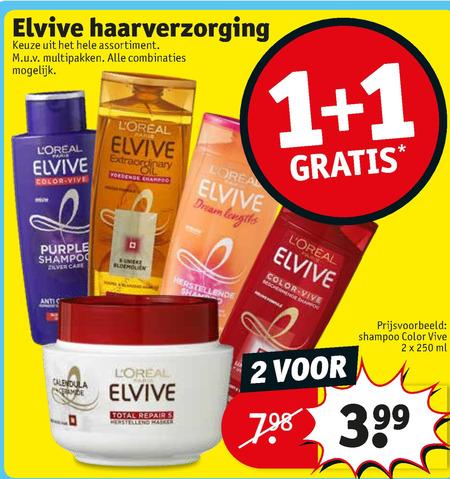 Elvive   shampoo, haarverzorging folder aanbieding bij  Kruidvat - details