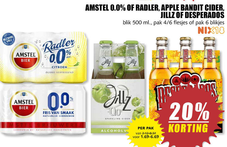 Amstel Appelcider Radler Bier Folder Aanbieding Bij Mcd Supermarkt Basis Details