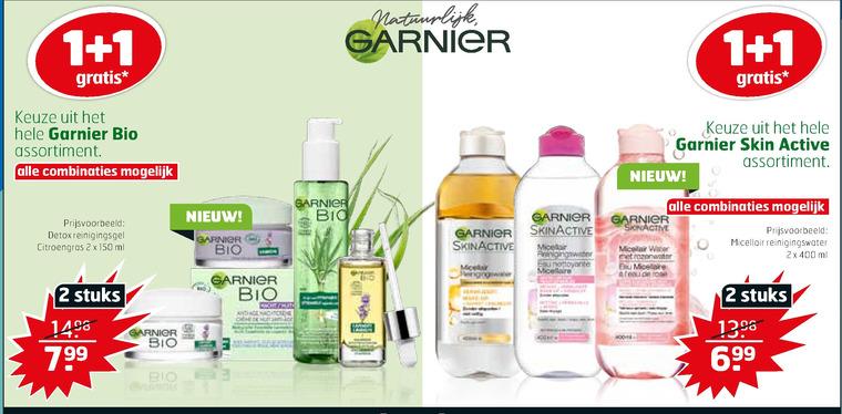 Garnier Skin Active   reinigingslotion, dagcreme folder aanbieding bij  Trekpleister - details