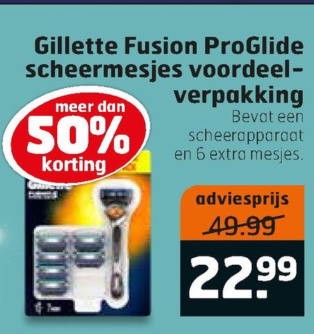 Gillette   scheermesjes folder aanbieding bij  Trekpleister - details