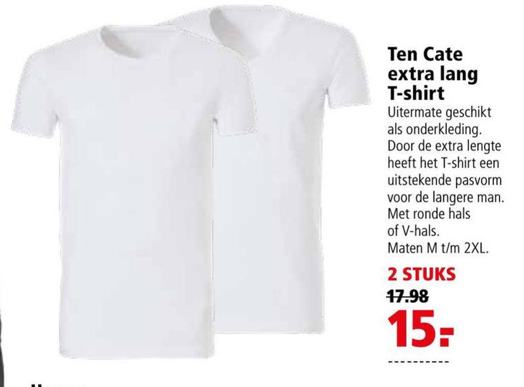 Ten Cate   heren t-shirt folder aanbieding bij  Welkoop - details