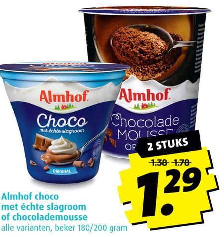 Almhof   chocolademousse folder aanbieding bij  Boni - details
