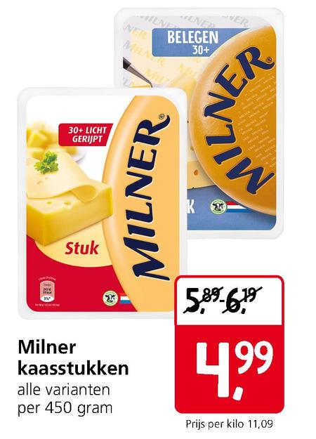 Milner   kaas folder aanbieding bij  JanLinders - details